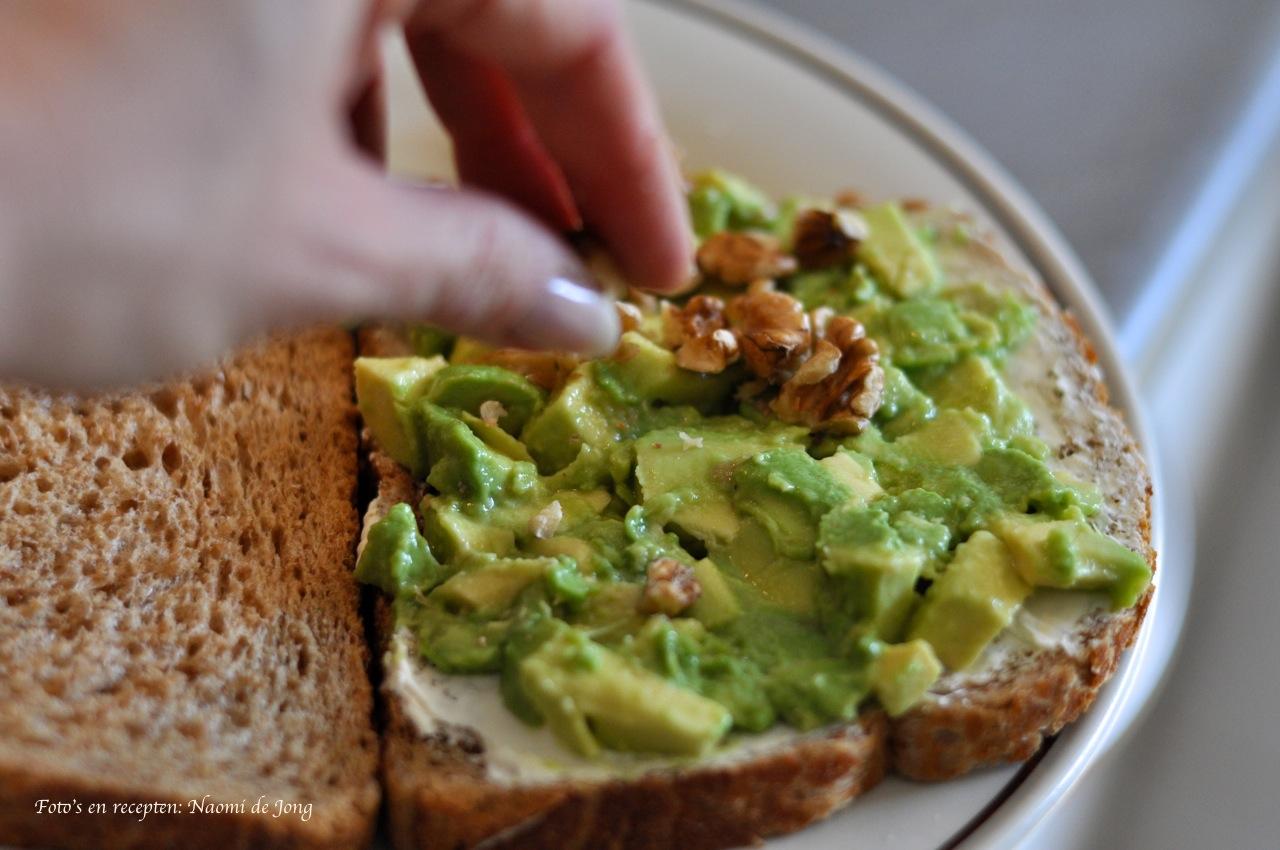 salade avocado geitenkaas