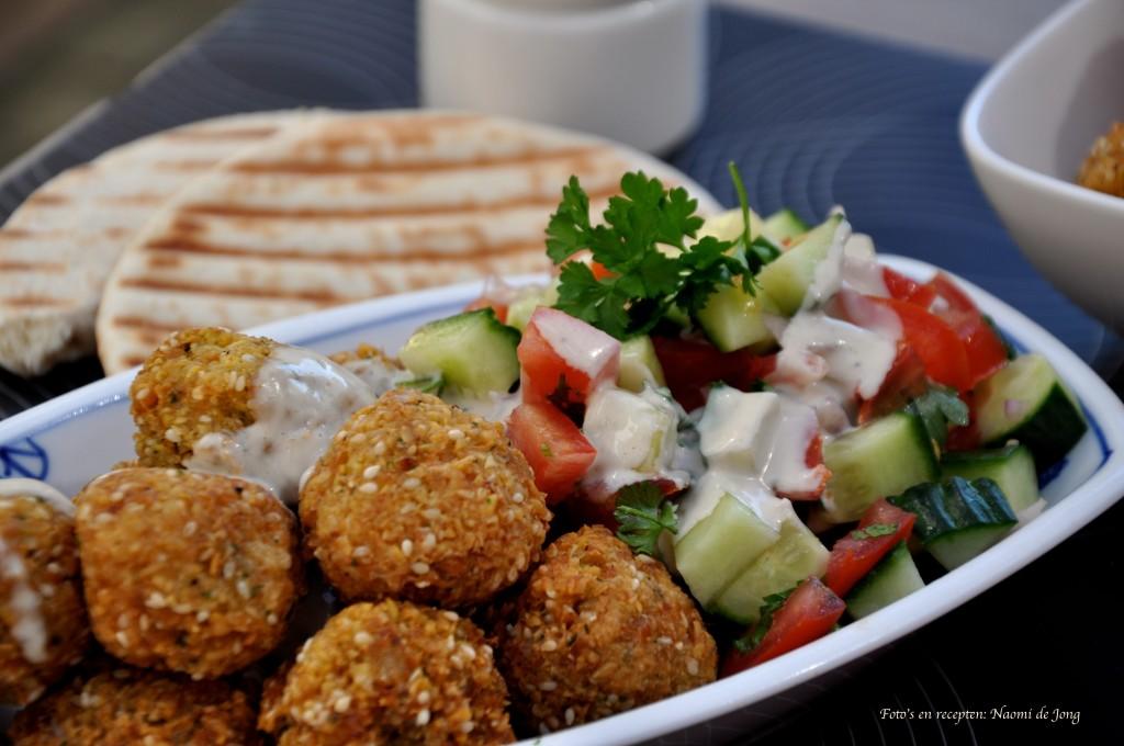 """Heerlijk, vooral met een verse """"Arabische salade"""" en sesampasta dressing"""