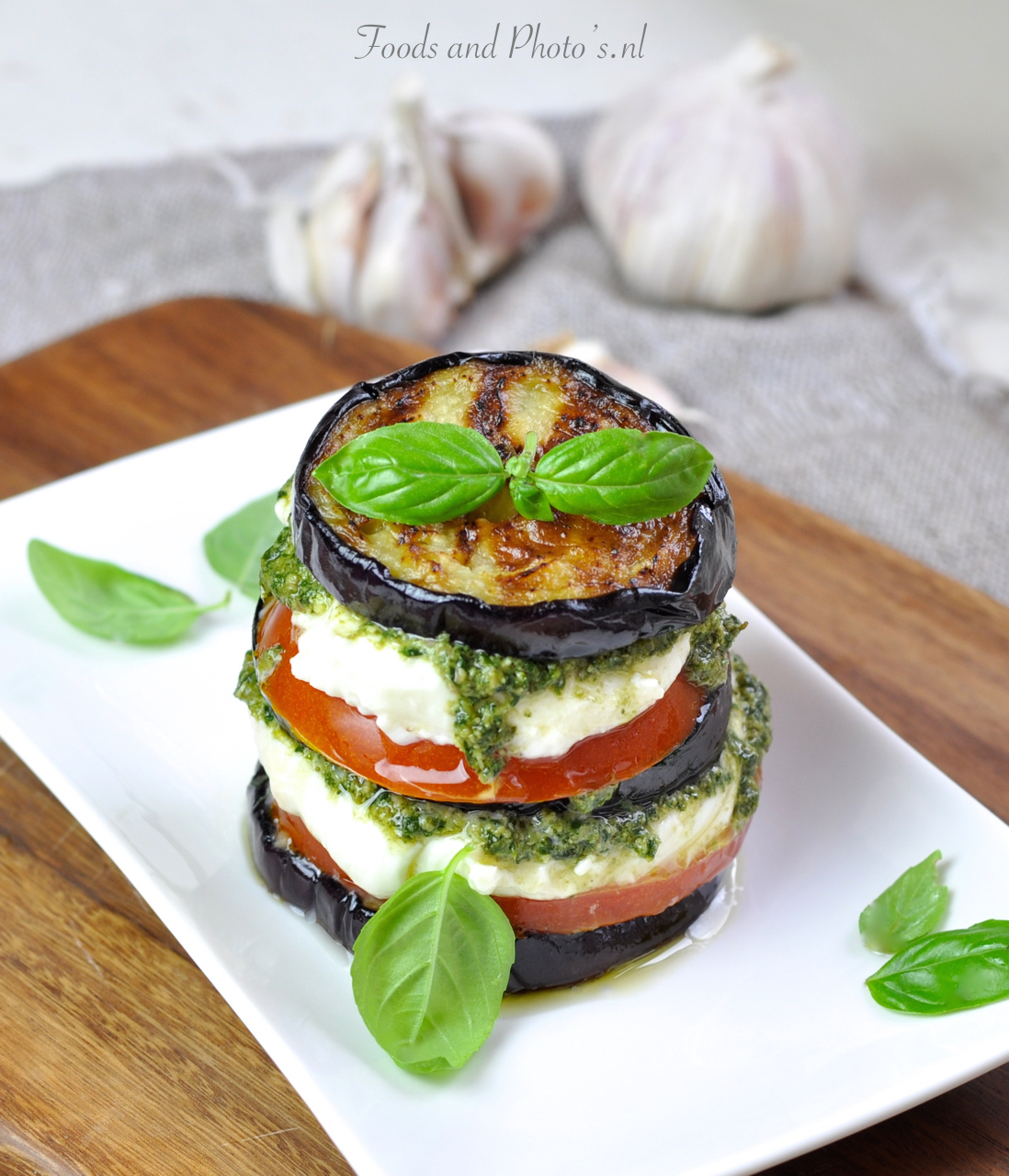 recept aubergine mozzarella
