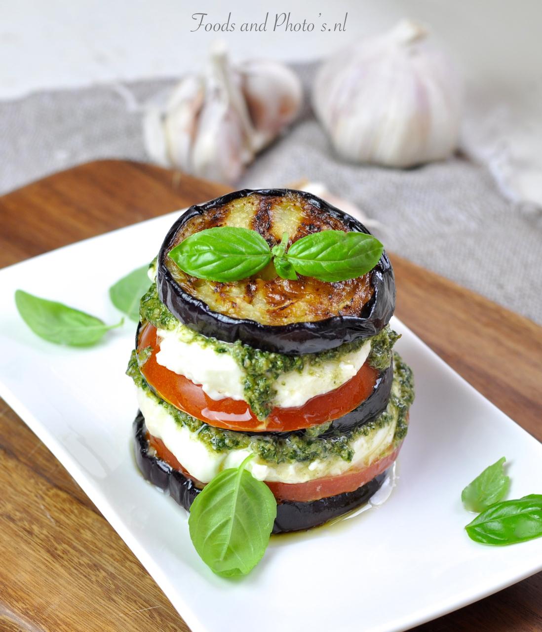 Verrassend Torentje van tomaat, mozzarella en aubergine: mozzarella SB-89